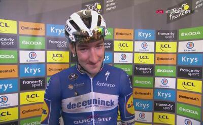 Viviani po wygraniu 4. etapu Tour de France