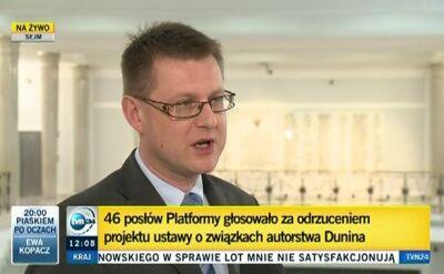 Artur Dunin o głosowaniach w Sejmie