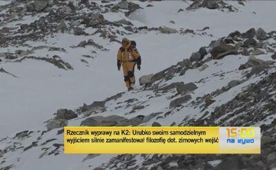Michał Leksiński, rzecznik wyprawy na K2, o sytuacji z Urubką