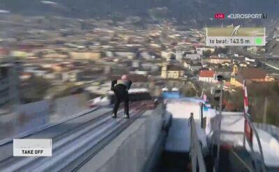Skok Dawida Kubackiego z pierwszej serii w Innsbrucku
