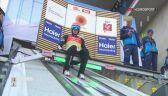Skok Dawida Kubackiego z serii finałowej konkursu drużynowego