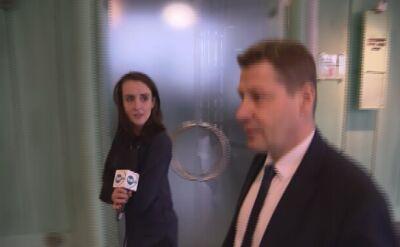 """Reporterka TVN24 pyta rzecznika dyscyplinarnego. """"Nie godzi się napadać na kogoś z kamerą tuż po wyjściu z sali sądowej"""""""
