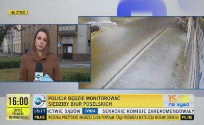 Policja wyjaśnia sprawę ataku na biuro poselskie