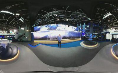 Justyna Pochanke w studio TVN24. Wideo 360 stopni