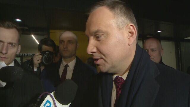 Prezydent Andrzej Duda odwiedził rannych w wybuchu