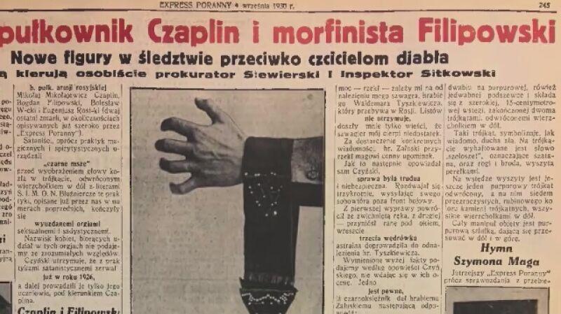 Czy sataniści żyli w przedwojennej Warszawie?