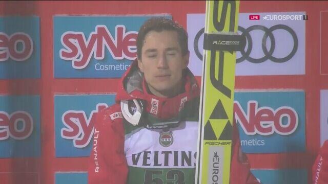 Ceremonia po zwycięstwie Kamila Stocha w Oberstdorfie