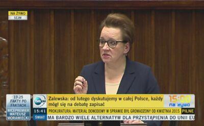 Anna Zalewska: Każdy mógł się na debatę zapisać