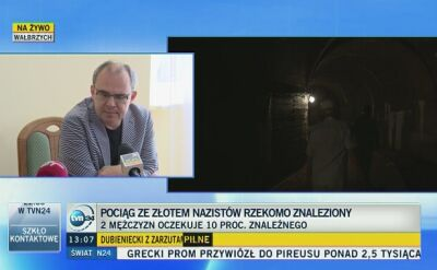 Konferencja prasowa dotycząca odnalezionego złotego pociągu