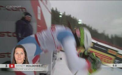 Holdener liderką slalomu po 1. przejeździe