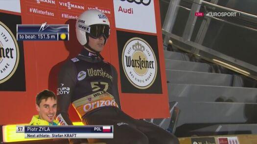 Skok Piotra Żyły w kwalifikacjach w Willingen
