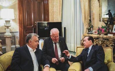 Berlusconi i Orban w Rzymie