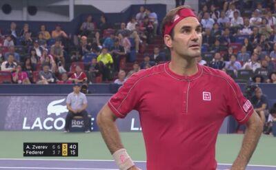 Rogerowi Federerowi puściły nerwy w Szanghaju