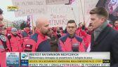 Trwa protest ratowników medycznych w Kielcach