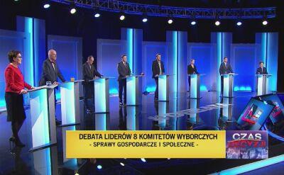 Pierwsza seria pytań w debacie przedwyborczej - emerytury