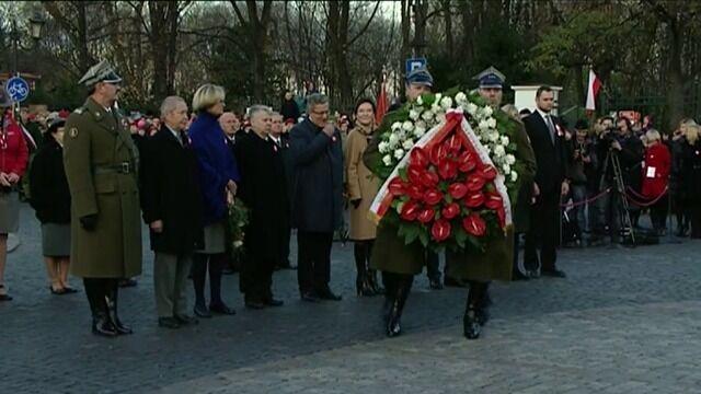 Prezydent złożył kwiaty pod pomnikiem Józefa Piłsudskiego