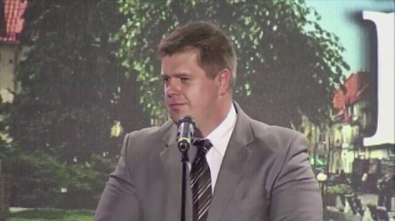 Wystąpienie Wojciecha Kałuży podczas konwencji