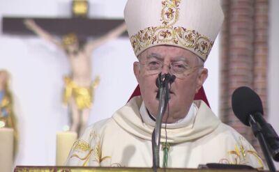 Arcybiskup Henryk Hoser w poniedziałek podczas homilii