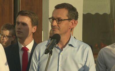 Premier Morawiecki o spotkaniu z ministrem Ziobro w sprawie Łukasza Piebiaka