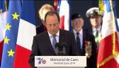 W czasie obchodów rocznicowych przemówienie wygłosiłFrancois Hollande