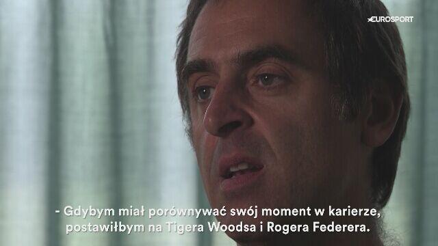 Ronnie O'Sullivan jest jak Tiger Woods i Roger Federer