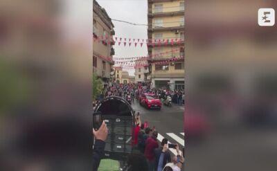 Tak wyglądał upadek Gerainta Thomasa na 3. etapie Giro d'Italia