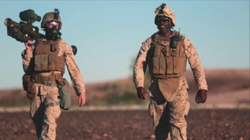 Ćwiczenia amerykańskich żołnierzy z rakietami Stinger