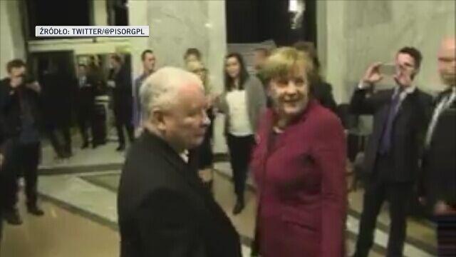 Spotkanie Merkel-Kaczyński w Bristolu