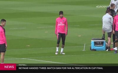 Neymar zawieszony na trzy mecze