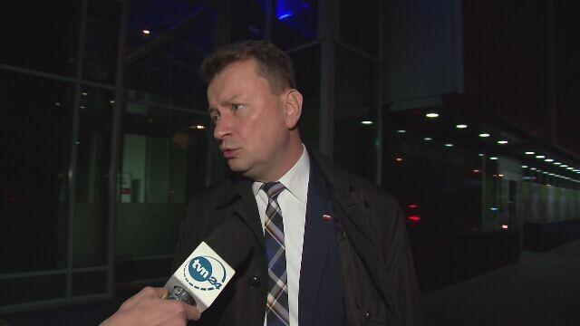 Minister Błaszczak o kolizji samochodów kolumny premier Szydło