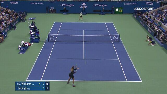 Skrót meczu Serena Williams - McNally w 2. rundzie US Open