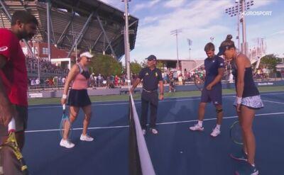 Skrót meczu Rosolska/Mektić - Spears/Bopanna w 1. rundzie miksta w US Open