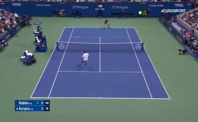 Skrót meczu Rublow - Kyrgios w 3. rundzie US Open