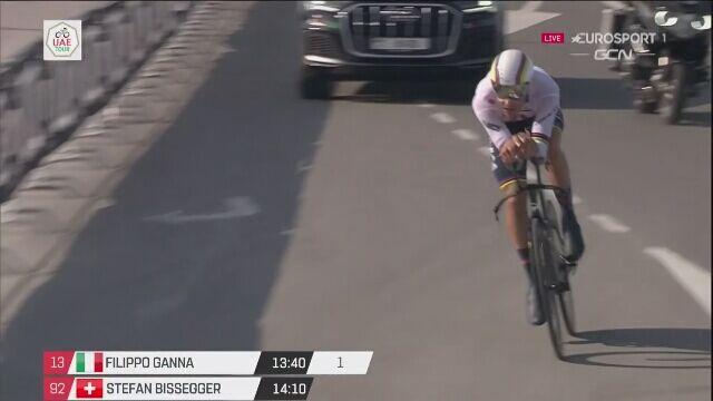 Filippo Ganna wygrał etap jazdy na czas podczas UAE Tour