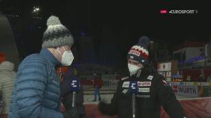 Michal Doleżal po konkursie na normalnej skoczni w Oberstdorfie