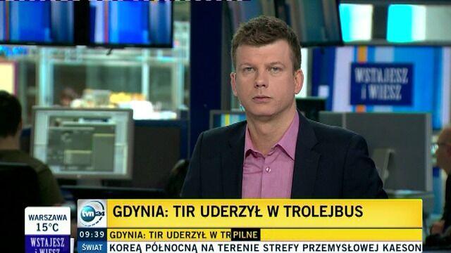 Wypadek w Gdyni. 1 osoba nie żyje, kilkanaście rannych