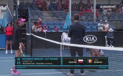 Zobacz wspaniałe zwycięstwo Igi Świątek w 1. rundzie Australian Open