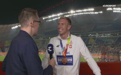 Piotr Lisek: Medal jest ciężki, ale bardzo piękny