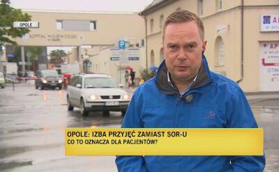 Opolski NFZ zabiega o utrzymanie SOR-u w Szpitalu Wojewódzkim