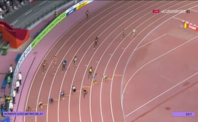 Chinki pogubiły się przy zmianie w sztafecie 4x100 metrów