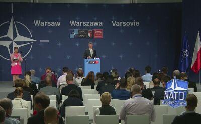 Jens Stoltenberg podusmował postanowienia szczytu NATO w Warszawie