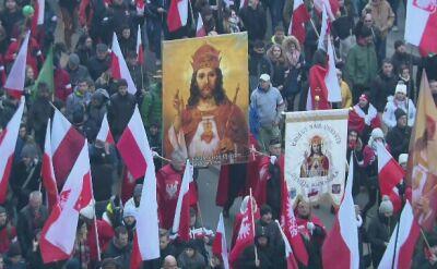 Marsz narodowców przeszedł ulicami Warszawy