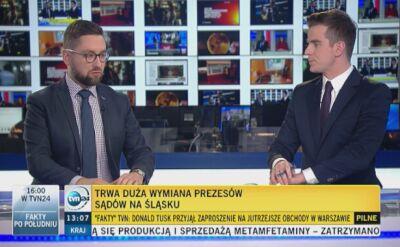 Michał Tracz z TVN24 o wymianie prezesów sądów na Śląsku