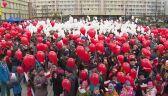 Niepodległościowa żywa kokarda w Rudzie Śląskiej