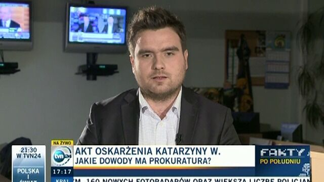 Reporter TVN24 o wnioskach śledczych dotyczących działania Katarzyny W.