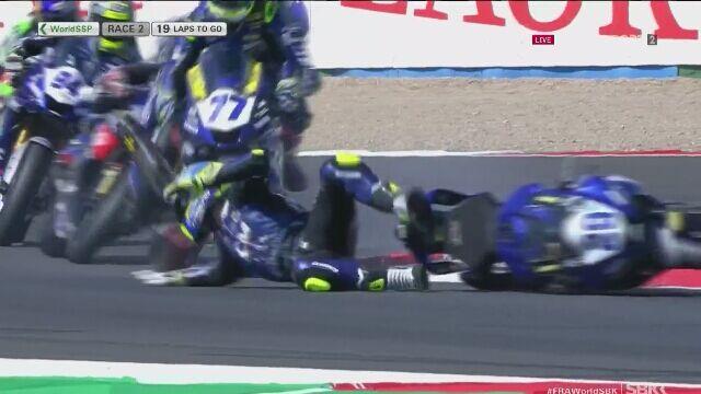 Groźny wypadek na torze w Magny-Cours na MŚ Superbike