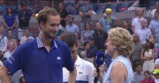 Daniił Miedwiediew po zwycięstwie w finale US Open