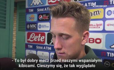 Piotr Zieliński po rozbiciu Interu Mediolan