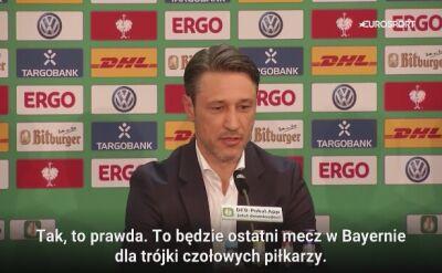 Niko Kovac żegna trójkę wielkich piłkarzy Bayernu