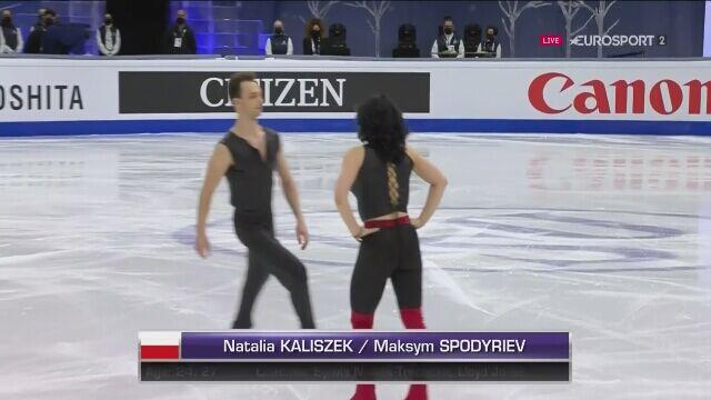Występ Natalii Kaliszek i Maksyma Spodarieva na MŚ w Sztokholmie